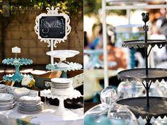 Instead of traditional cake platforms... Goodwill?? Thrift stores? Grandma?? #cake #decor #dessert