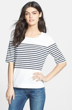 striped knit tee / nordstrom