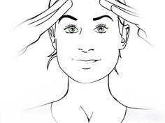 Übung 7: Glatte Stirn  Legen Sie die Finger beider Hände quer auf die Stirn. Ziehen Sie dann die Augenbrauen und die Lider gegen den Widerstand der Finger nach oben. Halten Sie die Anspannung 6-10 Sekunden und lassen dann locker. Während dieser Übung sollten Sie eine Anspannung im Stirnmuskel spüren. Entspannen Sie anschließend diesen Bereich.