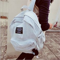 185098603c89d DIDA BEAR Women Denim Backpacks Female School Bags For Teenagers Girls  Travel Fashion Space Bagpack Leisure Bag Rucksack-in Backpacks from Luggage    Bags on ...