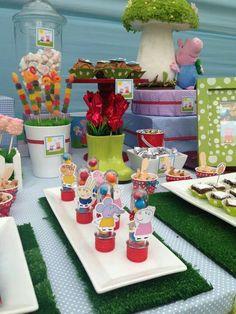 Chic & Dulce P's Birthday / Peppa Pig - Photo Gallery at Catch My Party Pig Birthday, 1st Birthday Parties, Cumple Peppa Pig, Pig Party, Party Treats, Party Time, Birthdays, George Pig, Bb