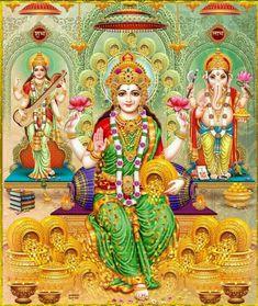 Take a look at this stunning compilation of our list of HD images where each Devi Lakshmi Image Is special - stunning Lakshmi images/photos. Durga Images, Lakshmi Images, Lakshmi Photos, Indian Goddess, Goddess Lakshmi, Shiva Art, Hindu Art, Saraswati Devi, Durga Maa