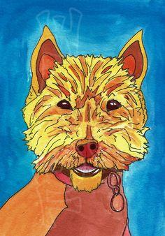 Hamish! A little portrait in gouache by me Tortleart!