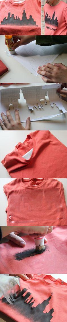 Como Estampar Camiseta usando Stencil – Técnica Simples e Rápida