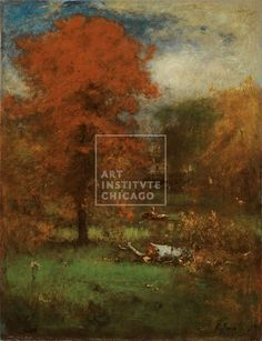George Inness, American, The Mill Pond, 1889, Oil on canvas, Edward B. Butler Collection, The Art Institute of Chicago (Image No. 00000159-01) - Painting, Landscape