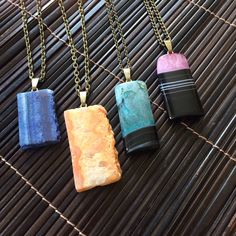 Gorgeous druzy crystal and agate gemstone necklaces - new stock. Hope you like them #fashion #style #jewellery #jewelry