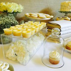 Custom Sweets Table and Mini Cheesecakes by CUPCAKES AND CONFETTI @ CupcakesandConfetti.com Instagram & Facebook @cupcakesandconfetti1