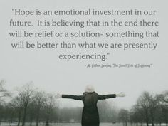 Investing in hope during infertility is an emotional investment in our future.