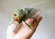 Incredible Embroidered Sculptures of Butterflies, Moths and Other Insects