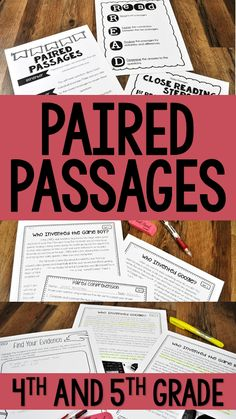 Need paired passages? Check out this paired passage bundle with paired passages, teaching posters, and text-dependent questions and activities.