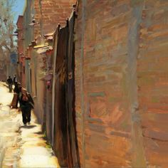 Brick Walls of San Miguel, oil on canvas, 18 x 18 inches, $4,000