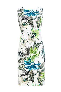 Ivory Leaf Print Shift Dress #WallisEscapes