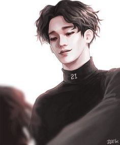 Find images and videos about kpop, exo and baekhyun on We Heart It - the app to get lost in what you love. Exo Chen, Chanyeol, Exo Anime, Fanart Bts, Exo Fan Art, Anime Lindo, Wu Yi Fan, Kpop Drawings, Kim Jongdae