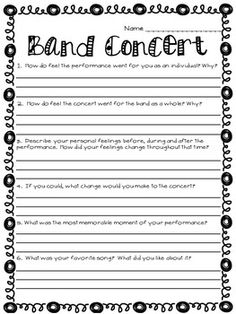 Music Performance Self Evaluation Worksheets, Band & Orchestra - Music Guitar Lessons For Beginners, Piano Lessons, Music Lessons, Teaching Orchestra, Teaching Music, Learning Piano, Middle School Music, Band Director, Music Worksheets