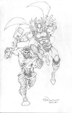 Thor & Hercules by Todd Nauck