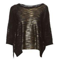 Pull oversize noir et doré - Kookai - Nouvelle Collection et ventes privées - Ref: 1307824 | Brandalley