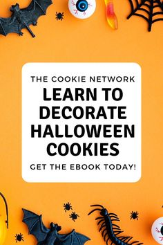 Do you want to make creative Halloween cookies? Are you heading to a Halloween party and need a dessert to bring? This ebook has 10 simple Halloween cookie design ideas with step-by-step tutorials + 3 royal icing transfer templates to use on cookies, cupcakes, cakes, or just as candy! If you need a Halloween treat idea, this ebook will give you just the idea you're looking for! #thebearfootbaker #thecookienetwork #halloweencookies #halloweentreatideas