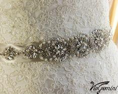 Rhinestone Sash Bridal sash  pearl sash Crystal by VioGemini, $169.99