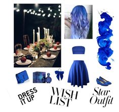 Blue romantic date by ellilla on Polyvore featuring Boohoo, Bandolino, Yves Saint Laurent, L. Erickson and Britney Spears