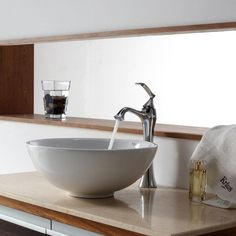 KRAUS Vessel Sink In White KCV 141 At The Home Depot