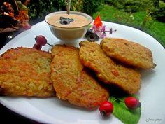 Gosia gotuje: Placki mięsno-ziemniaczane z sosem czosnkowo-oliwk...