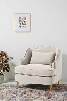 Hannah Slipcover Chair   Anthropologie Hanging Furniture, Bedroom Furniture Sets, New Furniture, Furniture Design, Bedroom Sets, Master Bedroom, Bedroom Inspo, Slipcovers For Chairs, Slipcover Chair