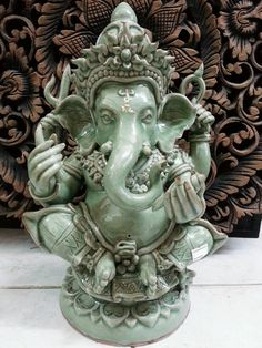 Check out this item in my Etsy shop https://www.etsy.com/listing/215521403/ganesha-statue