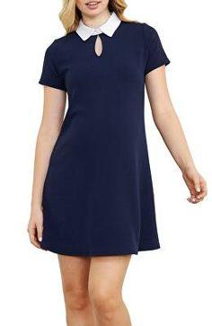 7eee4a560cd20 MATERNAL AMERICA Designer Contrast Collar Maternity Dress Maternity Wear,  Maternity Tops, Maternity Dresses,