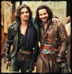 Tom Burke and Santiago Cabrera
