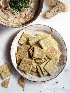 Crispy Almond Sesame Crackers   low carb, dairy-free, gluten-free, paleo, keto, thm   LowCarbMaven.com