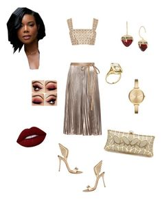 """""""Sex & the City"""" by jackie-so-juicy on Polyvore featuring Christian Louboutin, Valentino, Oscar de la Renta, Michael Kors, Betsey Johnson, Goshwara and Lime Crime"""