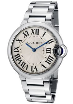 #Cartier W69011Z4 Ballon Bleu De Cartier Silver Guilloche Dial Stainless Steel #Watch