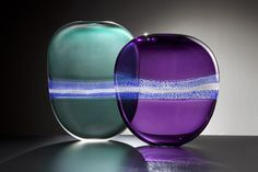 Alex Stisser - Teal Purple Flat Drop Pair