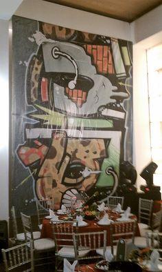 Fiesta de los 80's grafiti