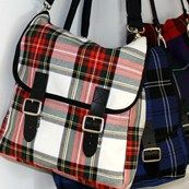 Childrens tartan messenger bag or satchel perfect as school bag available in 500 Scottish clan tartans with leather kilt buckle fastenings made in Scotland Scottish Plaid, Scottish Tartans, Tartan Fashion, Diy Sac, Estilo Fashion, Harris Tweed, Tartan Plaid, Plaid Pattern, Purses And Bags