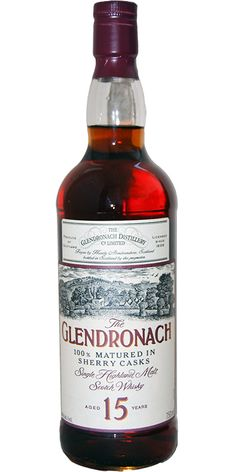 Glendronach 15 year old single malt whisky
