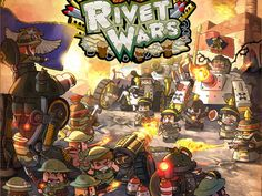RIVET WARS (by CoolMiniOrNot) Sweet looking boardgame.. make sure to buy for the boys!**don't forget** #epic
