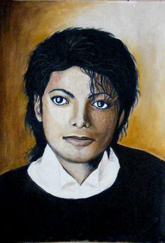 Portrait of Michael Jackson - oil painting