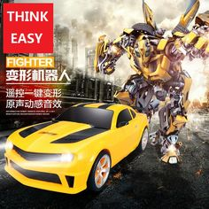 RC Transformation 4 electric Toys one key remote control prime children robot car action figures class. Click visit to buy #RemoteControl #Car