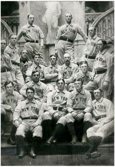 Vintage New York Baseball Team Archival Photo Sports Poster Poster