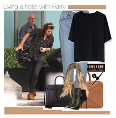 """""""・ Living a hotel with Harry  ・"""" by zaynismybaex ❤ liked on Polyvore featuring Forever 21, Loewe, Maybelline, Topshop, Yves Saint Laurent and Chicwish"""