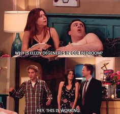 Ellen-DeGeneres-In-Our-Bedroom-marshall-eriksen --- THIS! hahahaha! :))) #himym
