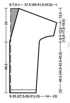 Схема вязания удлиненный кардиган без застежек с рукавом 3/4 раздел вязание спицами для женщин кофты спицами женские