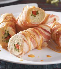 Pechuga con pimientos y tocino en chipotle ¡Una receta deliciosa para sorprender al paladar!