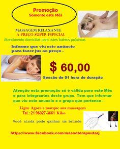 Massagem muito relaxante , feita na maca , cama ou no chão .