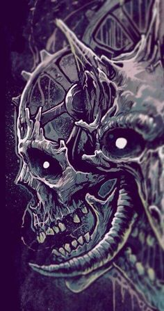 Skull Art by Grindesign ☠️ Arte Horror, Horror Art, Tattoo Sketches, Tattoo Drawings, Arte Obscura, Scary Art, Creepy, Skull Artwork, Skull Illustration