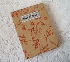 A6 Handmade notebook with silk cover £6.95