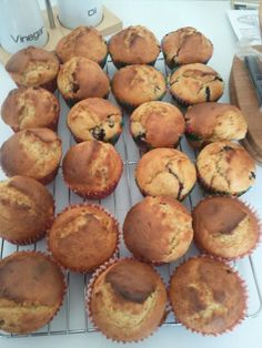 Blueberry muffins and apricot & banana muffins. Yummy!