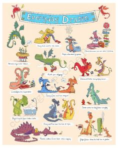 Dragon Print for Kids on Canvas - Art for Baby, Children, & Kids Rooms via Etsy