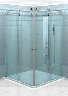 Sliding Corner Shower Cabin With Rod